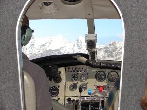 Cockpit view of Denali