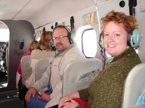 In flight!