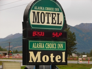 Time & Temperature at the Alaska Choice Inn Motel