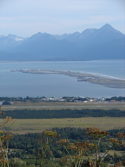 View of Homer Spit in Kachemak Bay