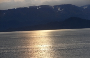 Sunrise over Kachemak Bay