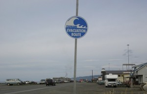 One lane in, one lane out. Pretty simple evacuation route...