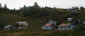 Ninilchik village (church visible peeking over hill)